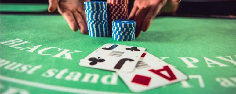 Craps table chips
